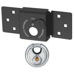 ABUS Van Lock 141/200+23/70 Black With Fixings