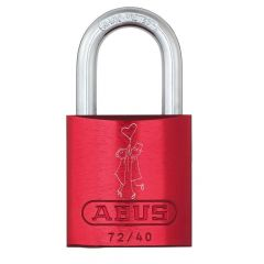 ABUS Aluminium 72/40 Love Lock 1 Red