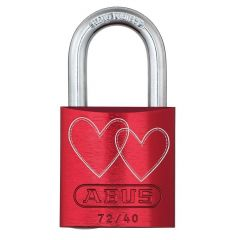 ABUS Aluminium 72/40 Love Lock 4 Red