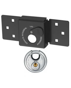 ABUS Van Lock 141/200+23/70 Black With Fixings