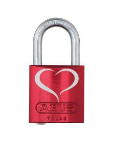 ABUS Aluminium 72/40 Love Lock 2 Red