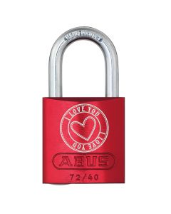 ABUS Aluminium 72/40 Love Lock 5 Red
