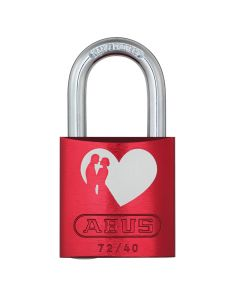 ABUS Aluminium 72/40 Love Lock 6 Red