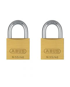 ABUS Solid 55/40 Twin Pack