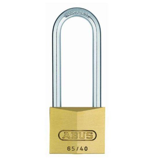 ABUS 65//40mm Brass Padlock 63mm Long Shackle Keyed Alike 404 ABUKA05320